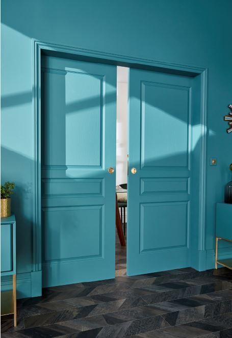 Peinture Depolluante Bleu Petrole Satin 2 5l Porte Coulissante Galandage Porte Coulissante Castorama