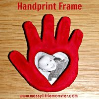 Clay hand print frame for dad!:
