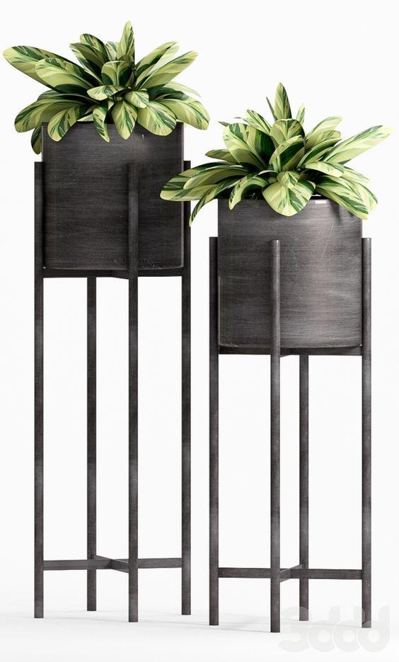 30 Mid Century Modern Plant Stands Ideas Plantstand Indoor Diy