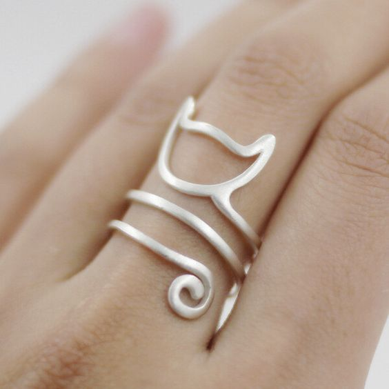 Cat Ring .925 Sterling Silver