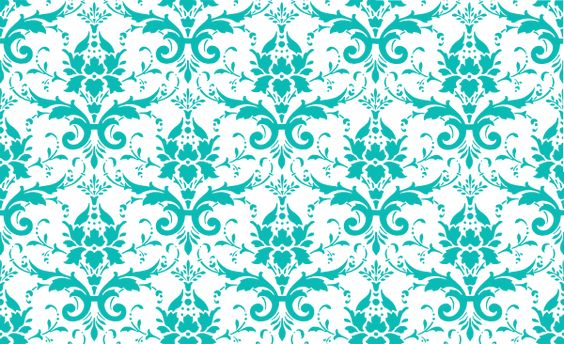 tiffany blue damask clip - photo #2