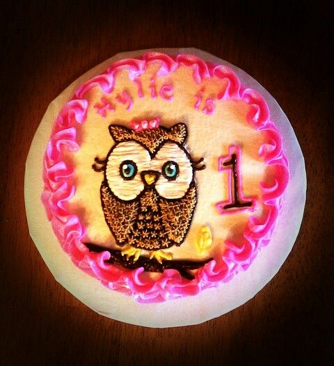 1st Birthday Girl Owl for Baby...ok this is one of my top choices now!! Smash Cake