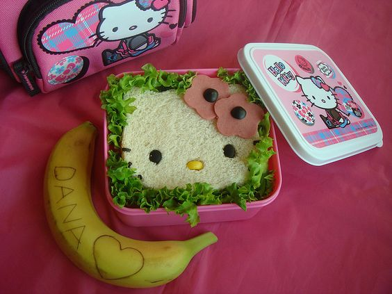 Hello Kitty lunch bag, bento box and sandwich... *swoon*