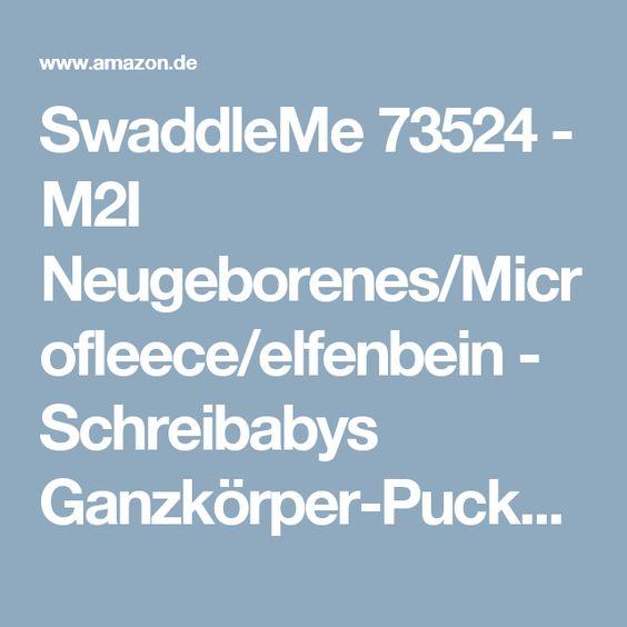SwaddleMe 73524 - M2I Neugeborenes/Microfleece/elfenbein - Schreibabys Ganzkörper-Pucksack Small/Medium Size