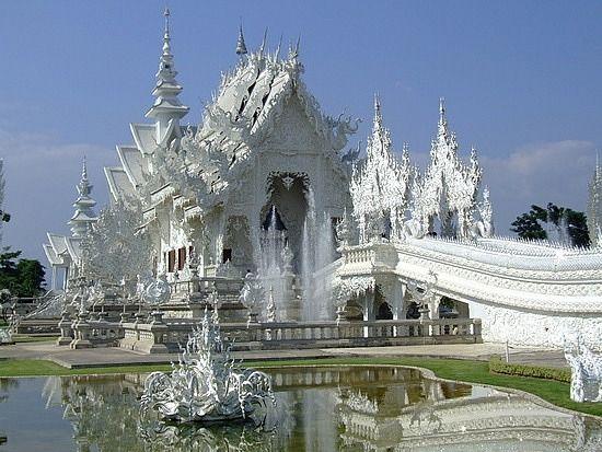 Wat Rong Khun Temple  near the city of Chiang Rai