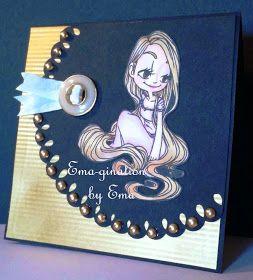 EMA-gination: SOG Pot o' Gold Challenge, Some Odd Girl, Rapunzel, Gold, Copic, handmade card, digital stamp