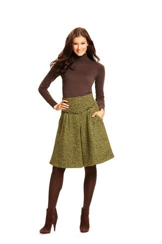 Schnittmuster: Rock - knielang oder bodenlang - Download - Röcke - Damen - burda style