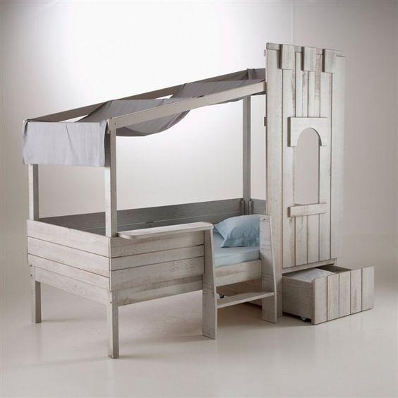 lit enfant ch teau fort pin massif zeya la redoute interieurs la redoute mobile accessoires. Black Bedroom Furniture Sets. Home Design Ideas