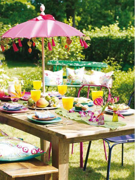 ... garden parties couleurs claires bali décorations de garden party