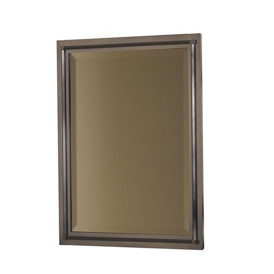 Ernie's bathroom 26x20 Rook Beveled Mirror | Hubbardton Forge