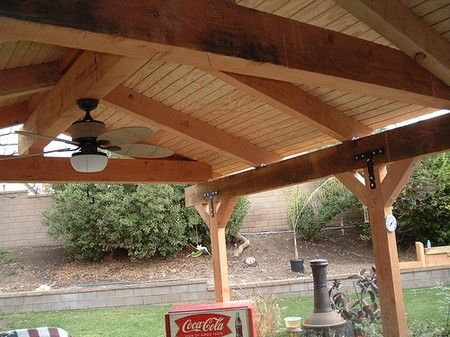 Freestanding Porch Gable Roof Spacious Build Patio Cover