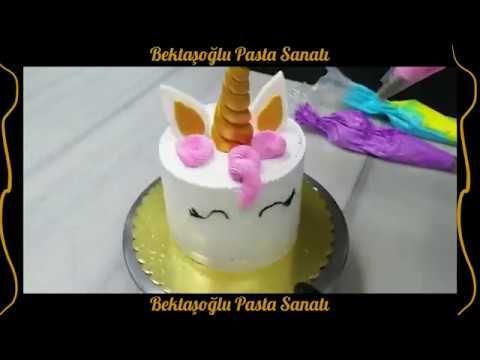 Unicorn Tek Boynuzlu At Pasta Yapimi Youtube Pasta Pastalar Dogum Gunu Yemek