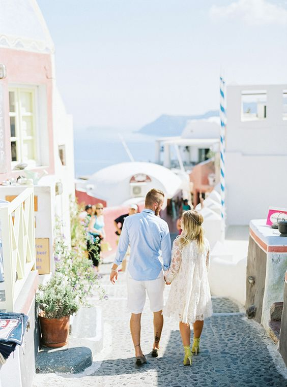 Santorini honeymoon shoot - Love4Wed Photo by Peaches and Mint #santorini #honeymooningreece: