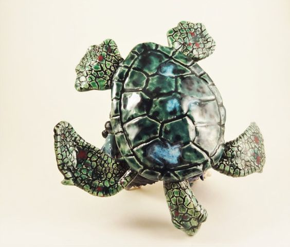 Turtle with cave by TheArtistJess on Etsy
