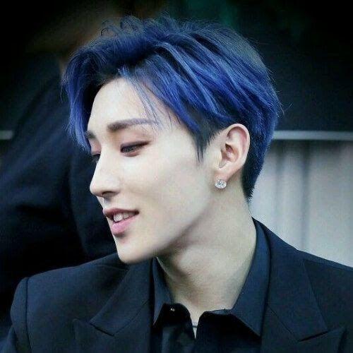 Blue Korean Men Haircut Korean Men Hairstyle Korean Hair 29 Best Hairstyles For Asian Men 2020 Styles 29 In 2020 Korean Hairstyle Korean Men Hairstyle Men Hair Color