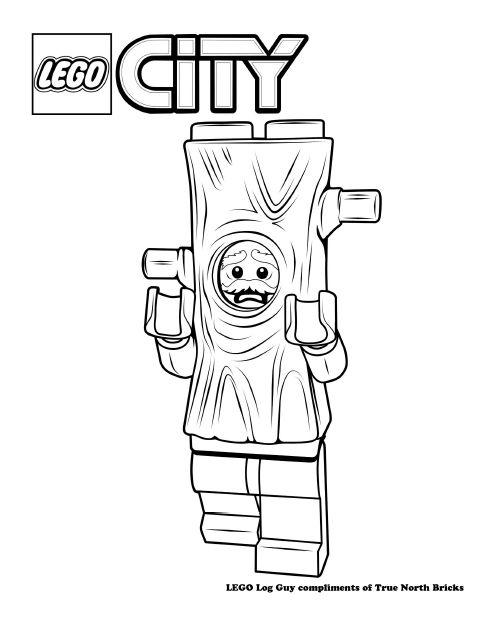 Coloring Page Log Suit Guy True North Bricks Lego Police Coloring Pages Lego Coloring Pages