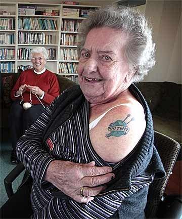 knitting tattoo