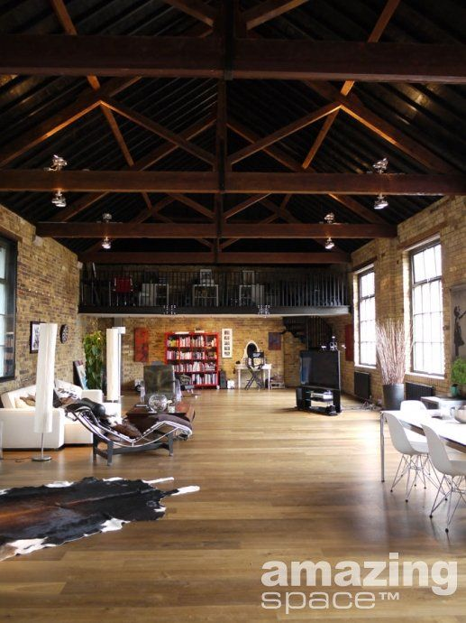 Interior design | Loft | Converted Factory / London | Amazing Space |  Interior Design and Exterior | Pinterest | Lofts, Spaces and Interiors