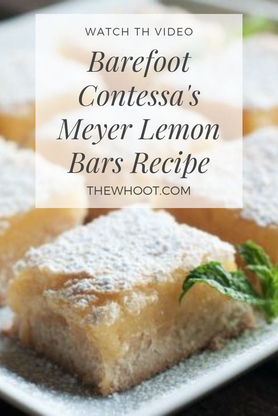 Meyer Lemon Bars Recipe - Video Tutorial | The WHOot