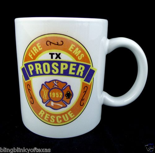 Prosper Texas Fire Rescue EMS First Responders Department Central Station Mug -- Great Collectible! BlingBlinky.com