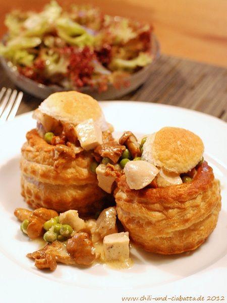 Chili und Ciabatta: Pastetchen mit Huhn und Pfifferlingen
