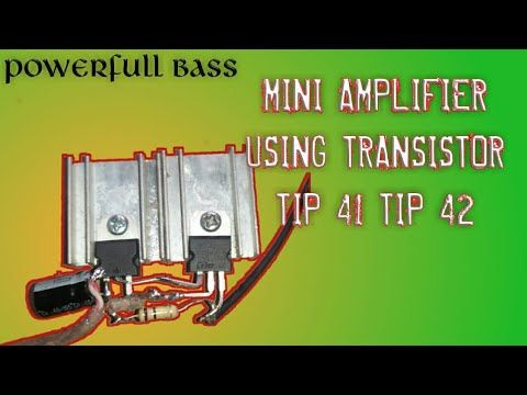 Mini Power Audio Amplifier Circuit Using Transistor Tip41 Tip 42 Youtube Audio Amplifier Transistors Amplifier