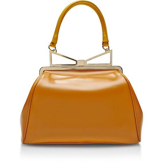 Sara Battaglia Lady Me Large Leather Handbag
