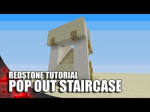 Minecraft: Pop Out Staircase (3 Wide) - YouTube
