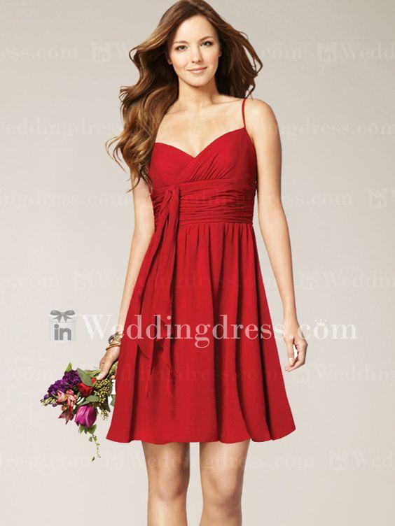 Wedding beach wedding dresses and wedding party dresses for Short red wedding dresses