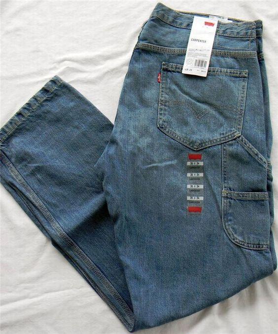 Levis Carpenter Jeans 36x34 Mens Loose Fit Blue Denim Pants