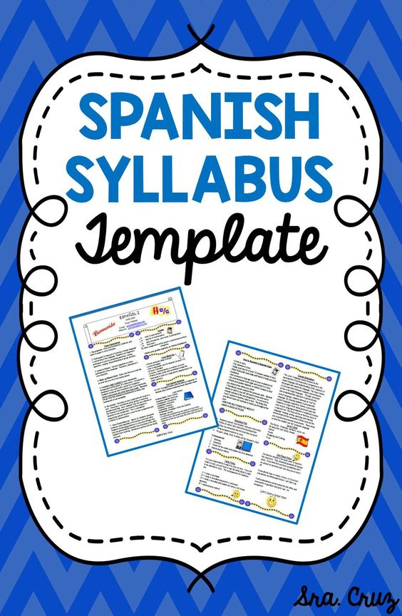 syllabus template  spanish and templates on pinterest