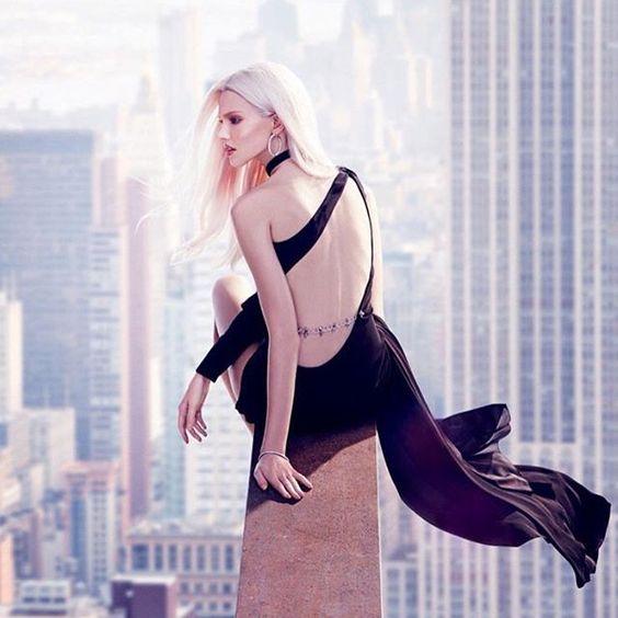 Sasha Luss in Phillip Plein, ft in Vogue Russia's Dec Issue. #fashion #moda #mode #fblog #fblogger #fashion_blog #fashionblogger #vestido #vestidos #robe #phillipplein