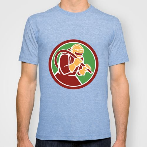 Sandblaster Sandblasting Hose Circle Retro T-shirt