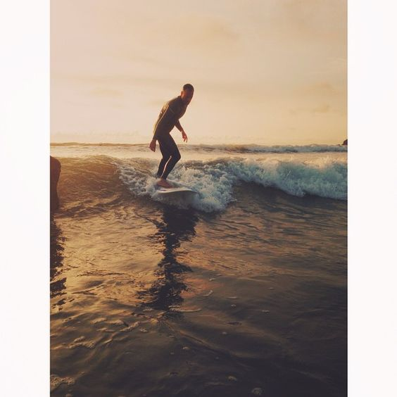 Surfing and sunsets