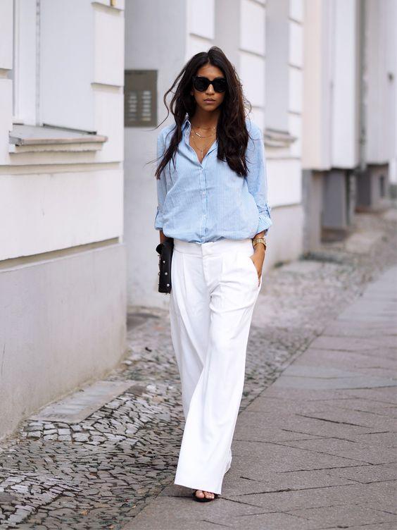 Marlenehose kombinieren: Cool mit Hemd