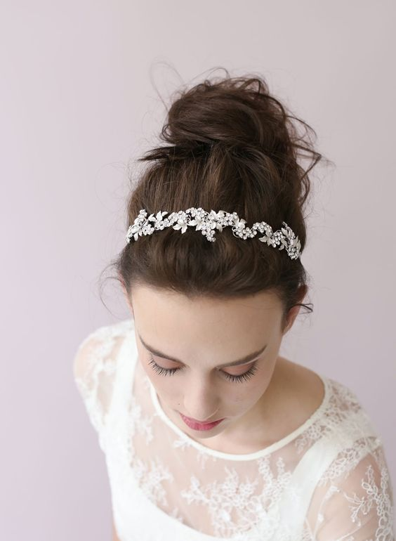 Crystal grape cluster tiara - Style # 403