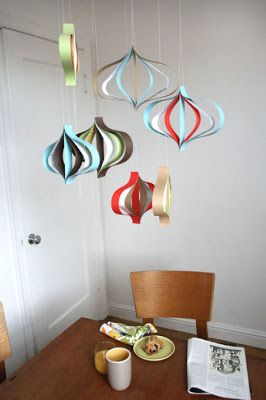 diy: modern paper ornaments