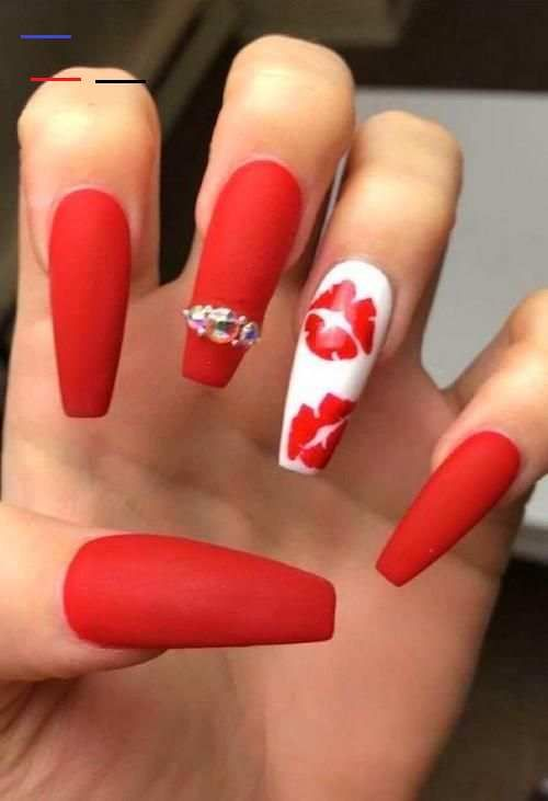 Red And White Nail Designs Short Article Reveals The Undeniable Facts About Valentines Nails Ac In 2020 Red And White Nails Nail Designs Valentines White Acrylic Nails