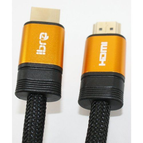 """4M HIGH SPEED PRO GOLD """"Ibra"""" Range (1.4a Version, 3D) HDMI TO HDMI CABLE WITH ETHERNET,COMPATIBLE WITH 1.3c,1.3b,1.3,1080P,PS3,SKYHD,VIRGIN BOX,FULL HD LCD,PLASMA & LED TV's AND ALSO SUPPORTS 3D TVS. (4metre/ 12.8ft) by IBRA. $14.99. HD Zone presenting a new generation Orange Range 1.4a Version Flat Shell HDMI Cable. This is a great new HDMI cable with 1.4a version which has a Ethernet technology built-in,This cable is also backward supported with 1.3,1.3b and 1.3..."""