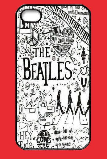 Personalized case The Beatles On iPhone 5 Case, iPhone 5 Case, iPhone 5 Hard Case, iPhone Case-plastic hard case-iphone 5 cover. $9.99, via Etsy. i NEED this!