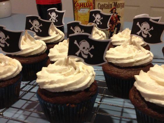 Captain Morgan cupcakes!
