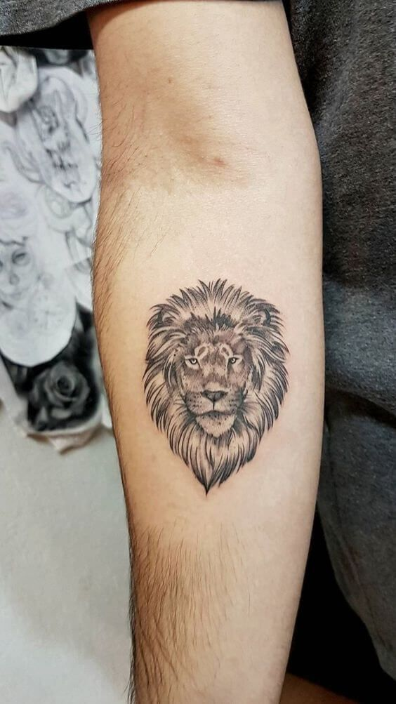 24 Small Lion Tattoo Designs And Ideas Petpress In 2020 Small Lion Tattoo Simple Lion Tattoo Lion Tattoo Meaning