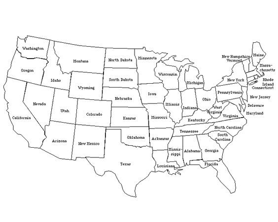 Visit Our Printable Map Worksheets Page To View All Of Our Blank - Us map labeled states