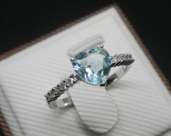Engagement Ring 1 Carat Sapphire Ring With by stevejewelry