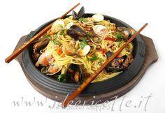 Ricetta Spaghetti ai frutti di mare alla piastra