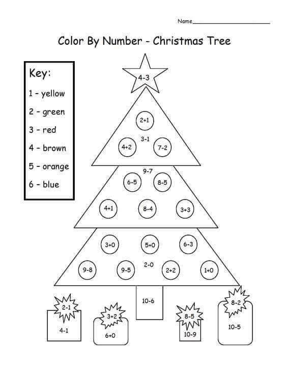 Math Christmas Color By Number Worksheets Christmas Math Worksheets Christmas Math Christmas Worksheets