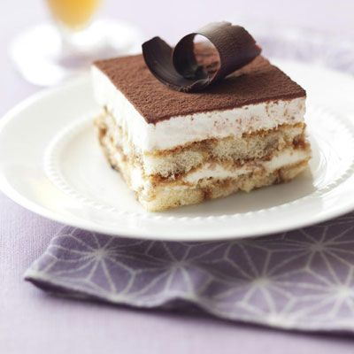 Healthy Makeover: Tiramisu -- Our cocoa-topped 175-calorie dessert will leave you feeling light as a feather!