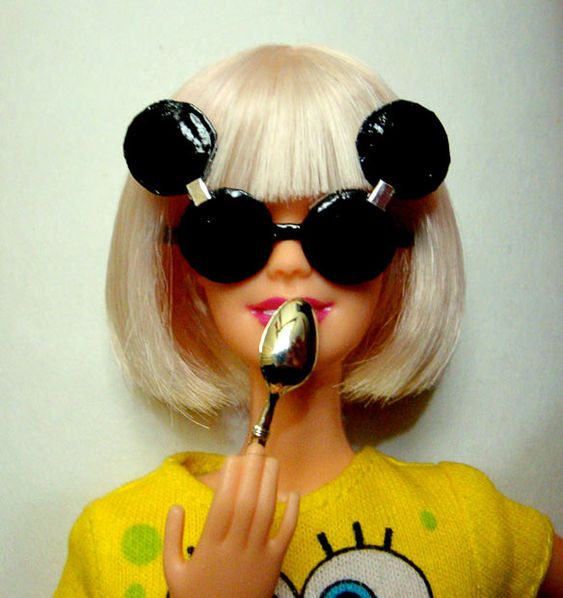 Wearing Mickey Mouse Sunglasses - FROM: Lady Gaga Barbie dolls by Lu Wei Kang - Telegraph