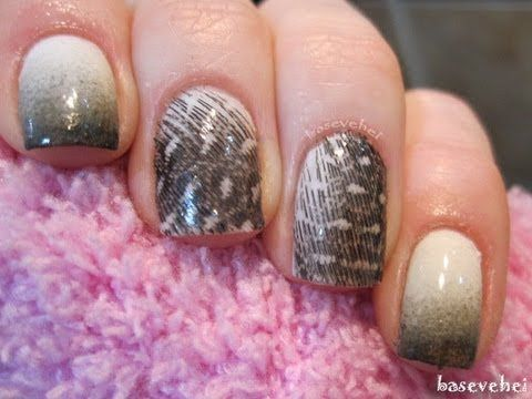 Feather nails - Piórkowe paznokcie - wzory na paznokcie - Basevehei - YouTube