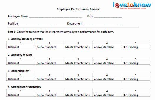 Free Employee Evaluation Form Template Luxury 70 Fabulous Free